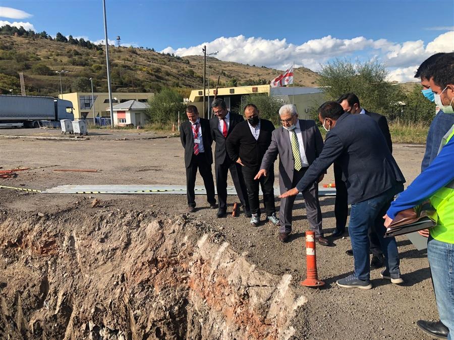 Bölge Müdürümüz Sn. Recep BİLGİN Türkgözü Sınır Kapısında başlayan modernizasyon çalışmalarını yerinde inceledi